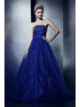 Charming Strapless Beading Empire Lace-up Floor-Length Dasha's Prom/Quinceanera Dress & vintage style Ball Gown Dresses