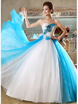 Beauteous Sweetheart Flowers Appliques A-Line Floor-Length Quinceanera Dress & vintage Ball Gown Dresses