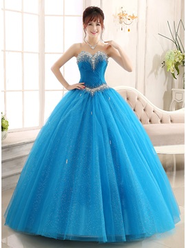 Amazing Sweetheart Beaded Ball Gown Lace-up Quinceanera Dress & Ball Gown Dresses under 500