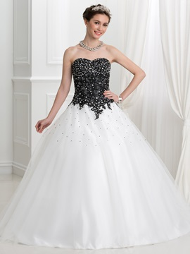 Glamorous Appliques Beading Lace-Up Ball Gown Quinceanera Dress & vintage style Ball Gown Dresses
