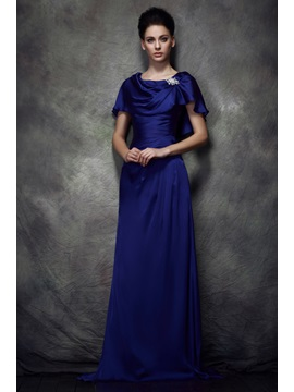 Delicate A-Line Scoop Neckline Floor-Length Polina's Mother of the Bride Dress
