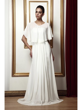 Fabulous A-Line Draped Floor-Length Taline's Mother of The Bride Dress