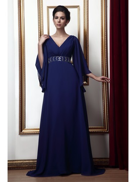 Gorgeous A-line V-Neck Floor-length Taline's Mother of the Bride Dress