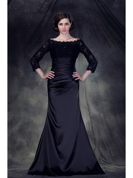 Charming Off-the-Shoulder Mermaid Floor-Length Anderai's Mother of the Bride Dress