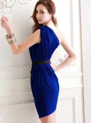 Top Quality Comfortable Elegant One Shoulder Slanting Sheath Dress