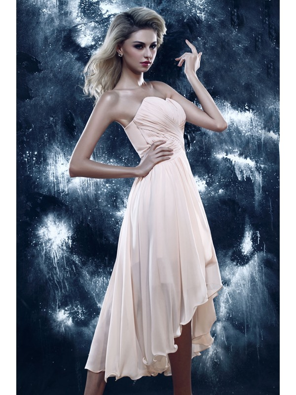 Chic A-Line Sweetheart Asymmetry Ruched Dasha's Homecoming Dress