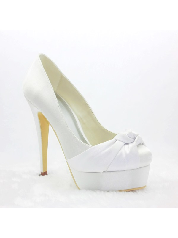 Satin Stiletto Heels Closed Toe Prom/Evening Shoes