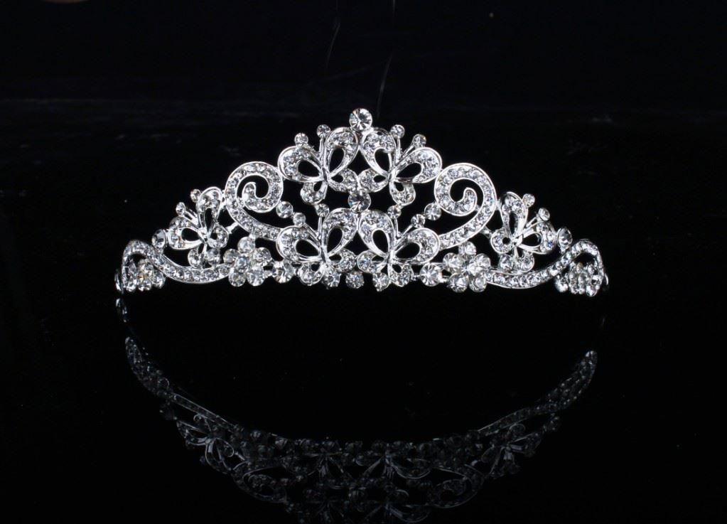 Glamorous Butterfly Shaped Rhinestone Wedding Bridal Tiara