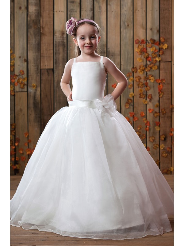Cute Empire Square Ankle-length Flower Girl Dress