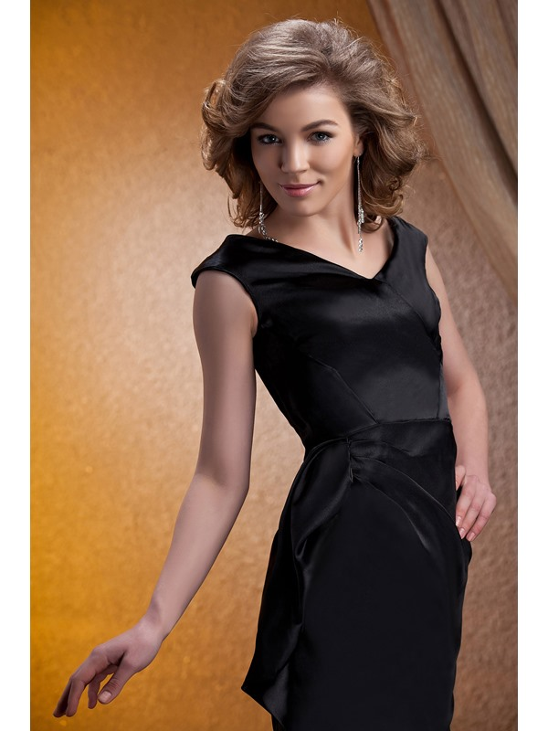 Graceful Pick-ups A-Line Knee-Length V-Neck Mother of the Braide Dress