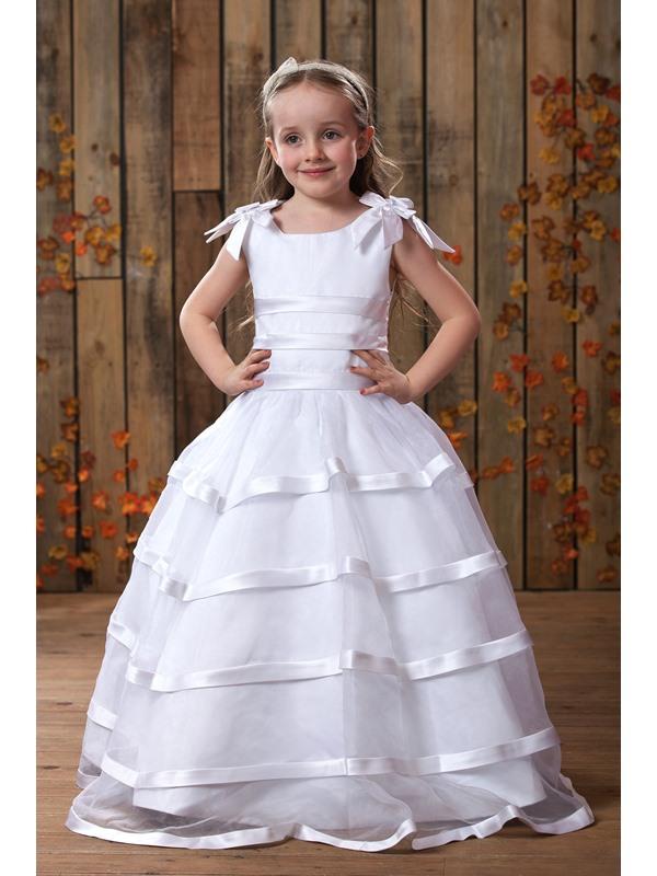 A-Line Round-neck Floor- Length Flower Girls Dress 2013 Style