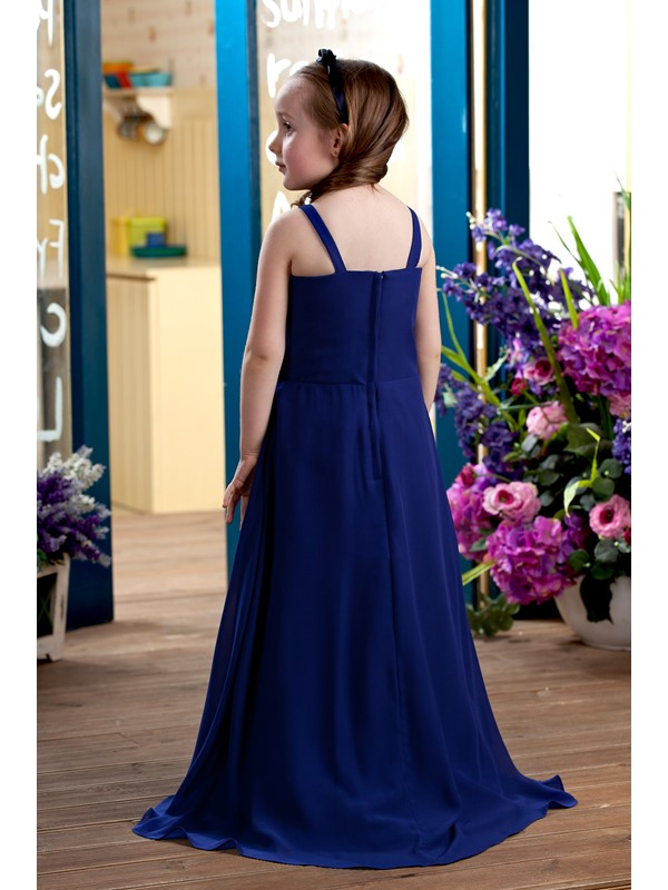 Beautiful Square A-line Floor-length Flower Girl Dress