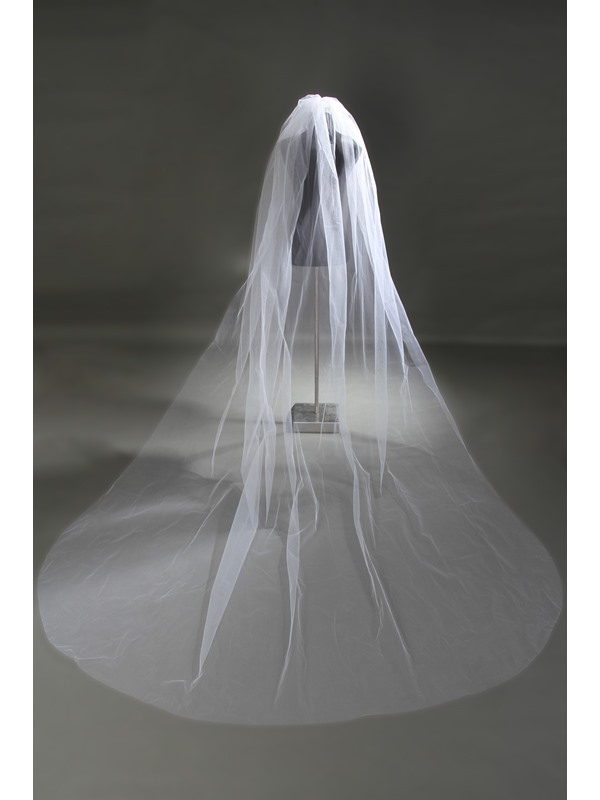 Charming Cathedral Length Tull Wedding Veil
