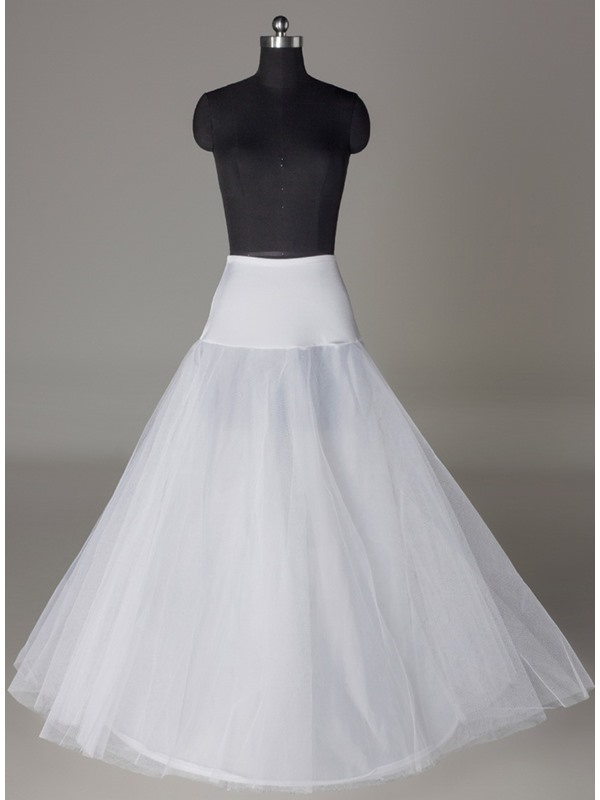 A-line One-steel Ring Two Layers A-Line Wedding Petticoat