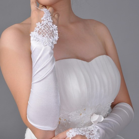Adorable Special Fingerless Lace Wedding Bridal Glove