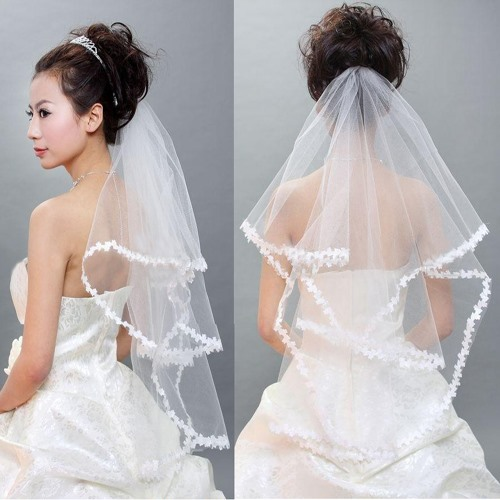 Beautiful Elbow Wedding Bridal Veil