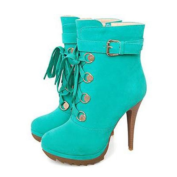 Fashion Green Velvet Closed Toe Paillette Stiletto Heel Short Boots