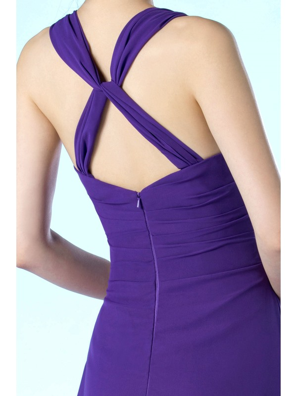 New Simple Style V-Neckline Floor Length A-Line Mother of the Bride Dress(Free Shipping)