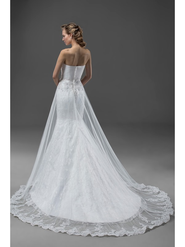 High-Quality Appliques&Sequins Court Train Zipper-up Sweetheart Wedding Dress(Free Shipping)