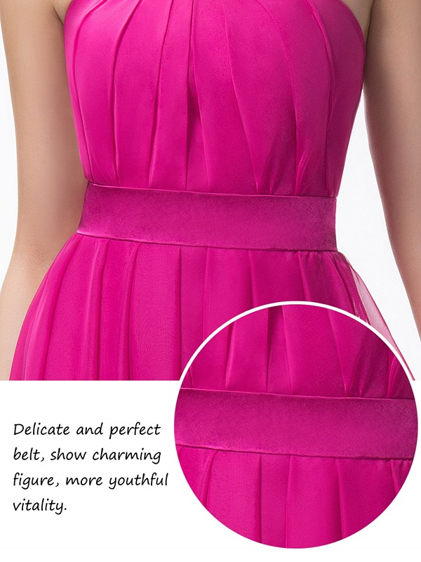 Simple Strapless A-Line Ruched Zipper-up Long Bridesmaid Dress(Free Shipping)