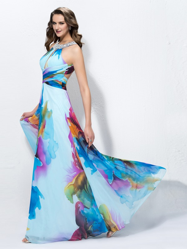 Charming A-Line Jewel Neck Sequins Long Prom Dress Designed (Free Shipping)