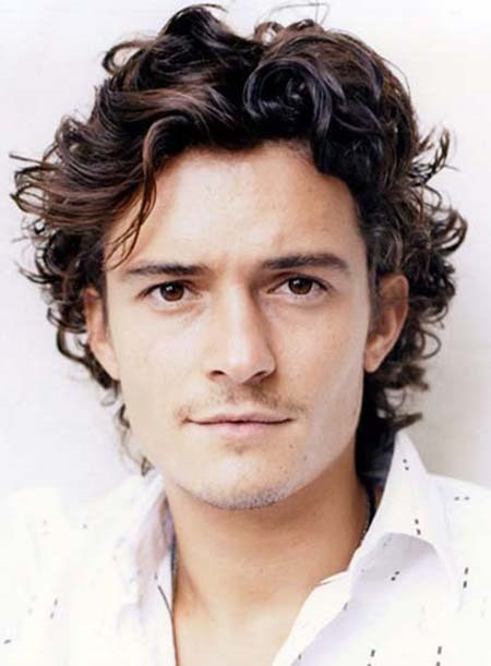 Custom Orlando Bloom Hairstyle Short Curly 100% Remy Human Hair Full Lace Wig 6 Inches