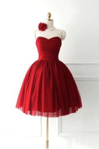 Lovely A-Line Sweetheart Bowknot Lace-up Short Homecoming Dress