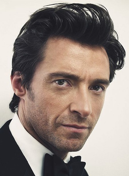 Top Quality 100% Remy Human Hair Hugh Jackman Short All-Back Hairstyle Full Lace Wig 5 Inches