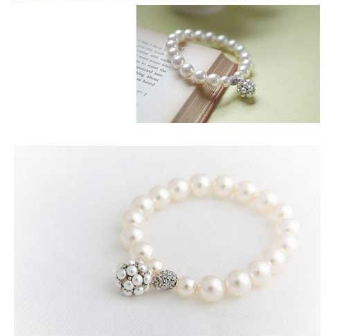 All-matched Pearl Rhinestone Alloy Women's Bracelet