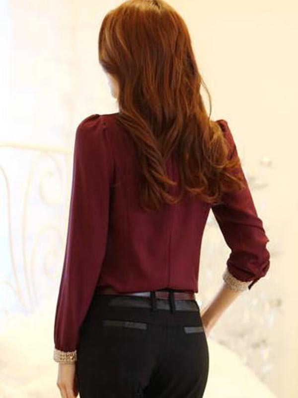 OL Style Fashion Slim Doll Collar Work Shirt (Free Shipping)