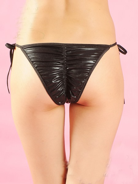 Classical Patchwork Lace-up Women Panties Thongs