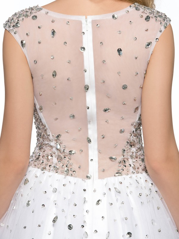 Stunning A-Line Round Neck Beadings Sequins Short Cockatil Dress
