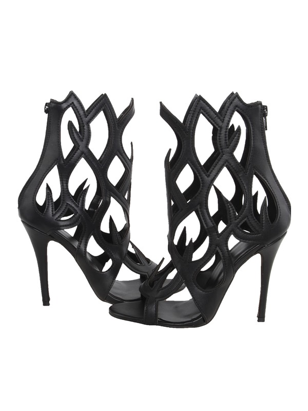 Fire Shaped Cut-out Party Sandals