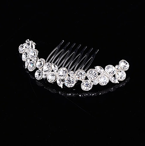 Simple Style Floral Rhinestone Alloy Wedding Tiara