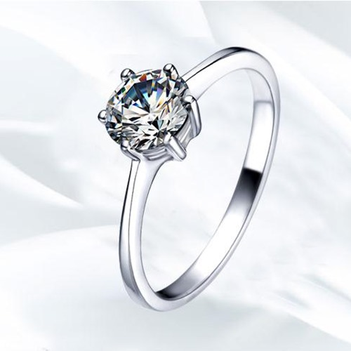 Classic AAA CZ 925 Sterling Silver Women Engagement/Wedding Ring