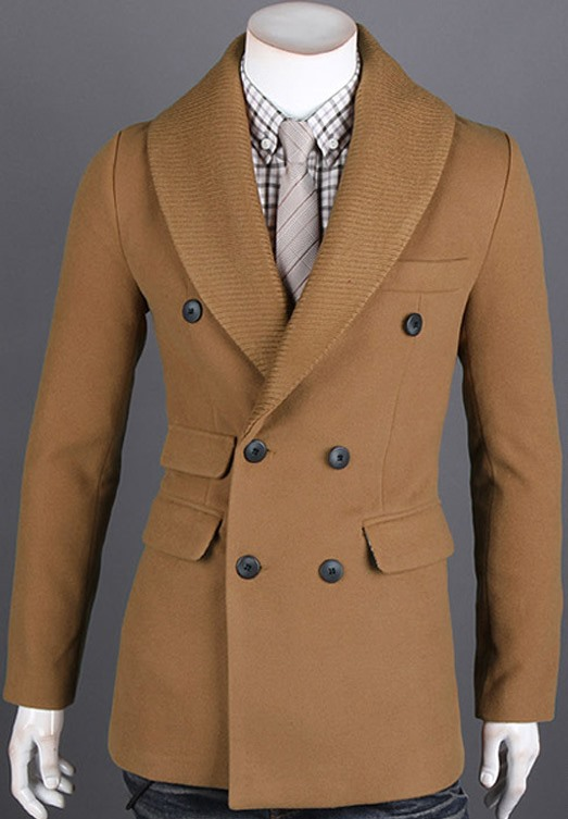 Lapel Double-Breasted Overcoat