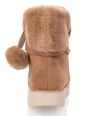 Nice Women Winter Thermal Plush Ball Boots