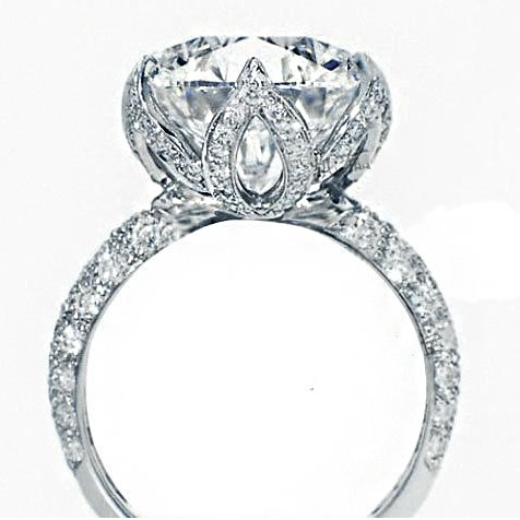 Luxury 1 CT SONA Diamond 925 Sterling Silver Platinum Plated Engagement/Wedding Ring