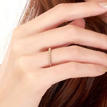 Classy Simple Style Twist 18K Rose Gold Women Ring