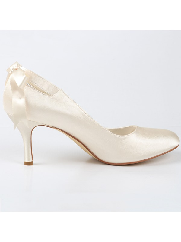 Fine Point Toe Satin Stiletto Heel Wedding Shoes