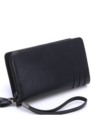 Men's Zipper PU Clutch