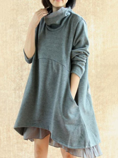Boat Neck Two-Piece Sweater Dress