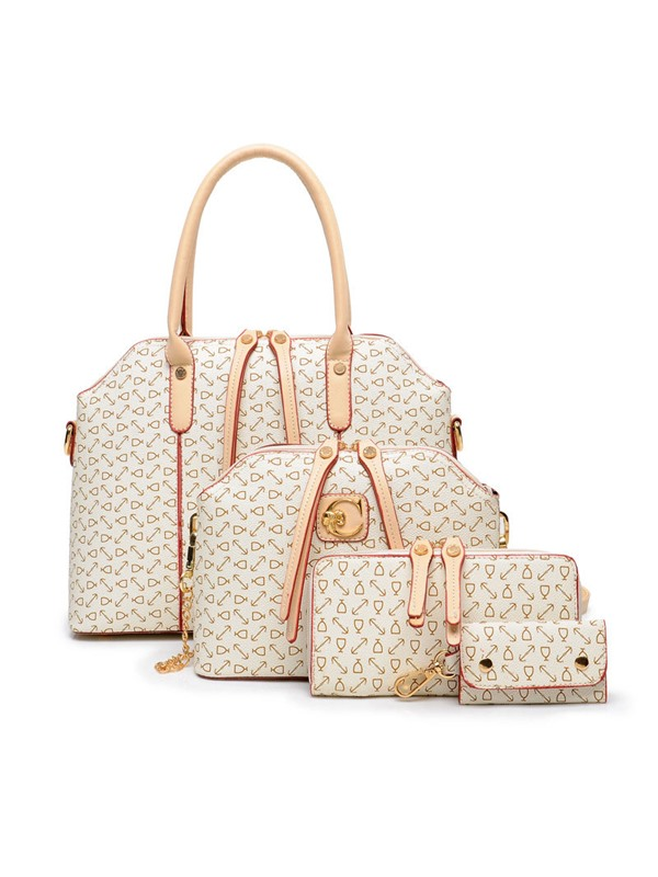 Classic Arrow Print Bag Set with Three Bags