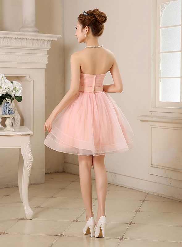 Cute Sweetheart Beading A-Line Short Sweet 16 Dress