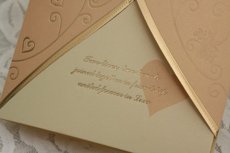 Personalized Tri-Folds Wedding Invitation Cards (20 Pieces One Set)