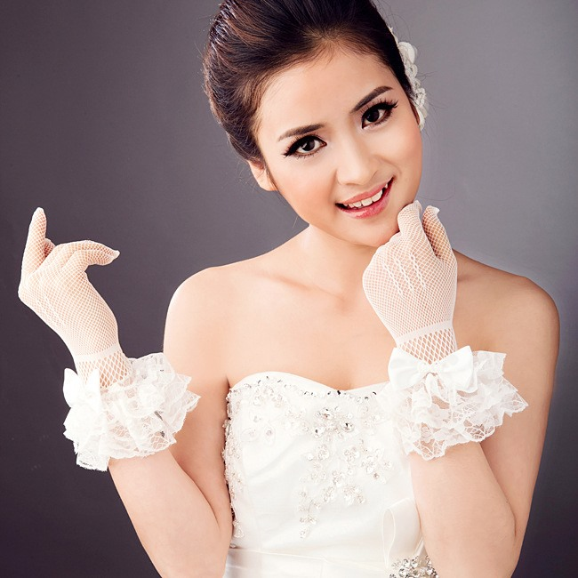 Fine Lace Wedding Gloves