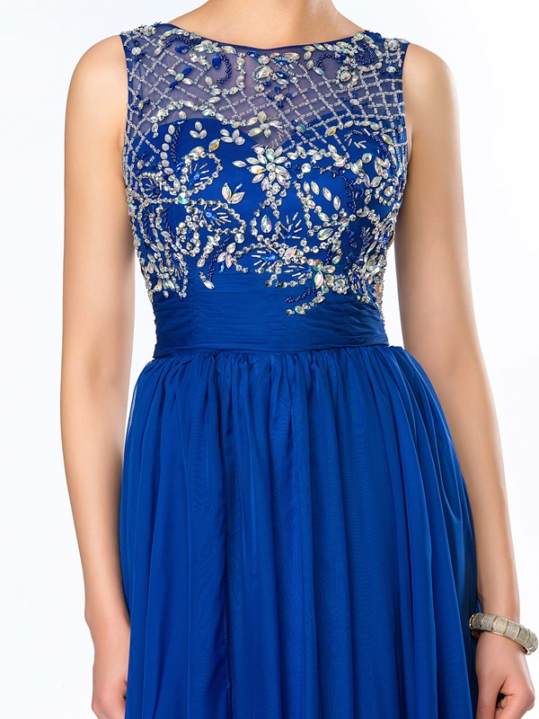 Delicate Bateau Neckline Beading Floor Length Prom Dress(Free Shipping)