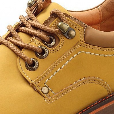 Solid Color Round Toe Lace-Up Ankle Boots