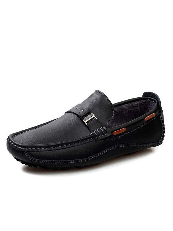 Solid Color Quilted Slip-On Moccasin-Gommino