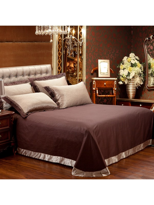 Tidebuy Vintage Style Luxury Satin 4-Piece Duvet Cover Set